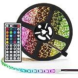 Simfonio LED Light Strip - RGB LED Strip Light 5M 300LEDs 5050SMD LED Strip Lights Full Kit