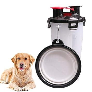 KOBWA - Botella de Agua para Perro, dispensador de Agua, Taza portátil para Perro, Recipiente de Alimentos 2 en 1: Amazon.es: Productos para mascotas
