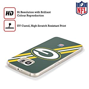 Official NFL Stripes Green Bay Packers Logo Soft Gel Case for Samsung Galaxy S8+ / S8 Plus