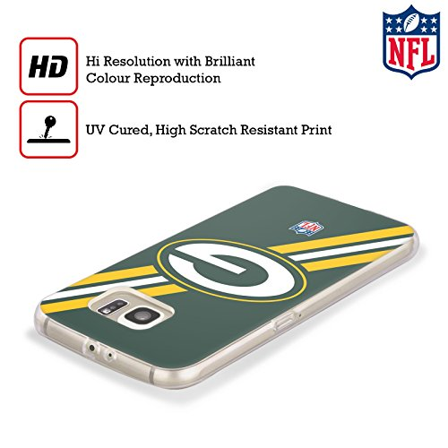 Official NFL Stripes Green Bay Packers Logo Soft Gel Case for Samsung Galaxy S8