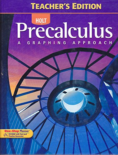 Precalculus: A Graphing Approach (Teachers Edition)