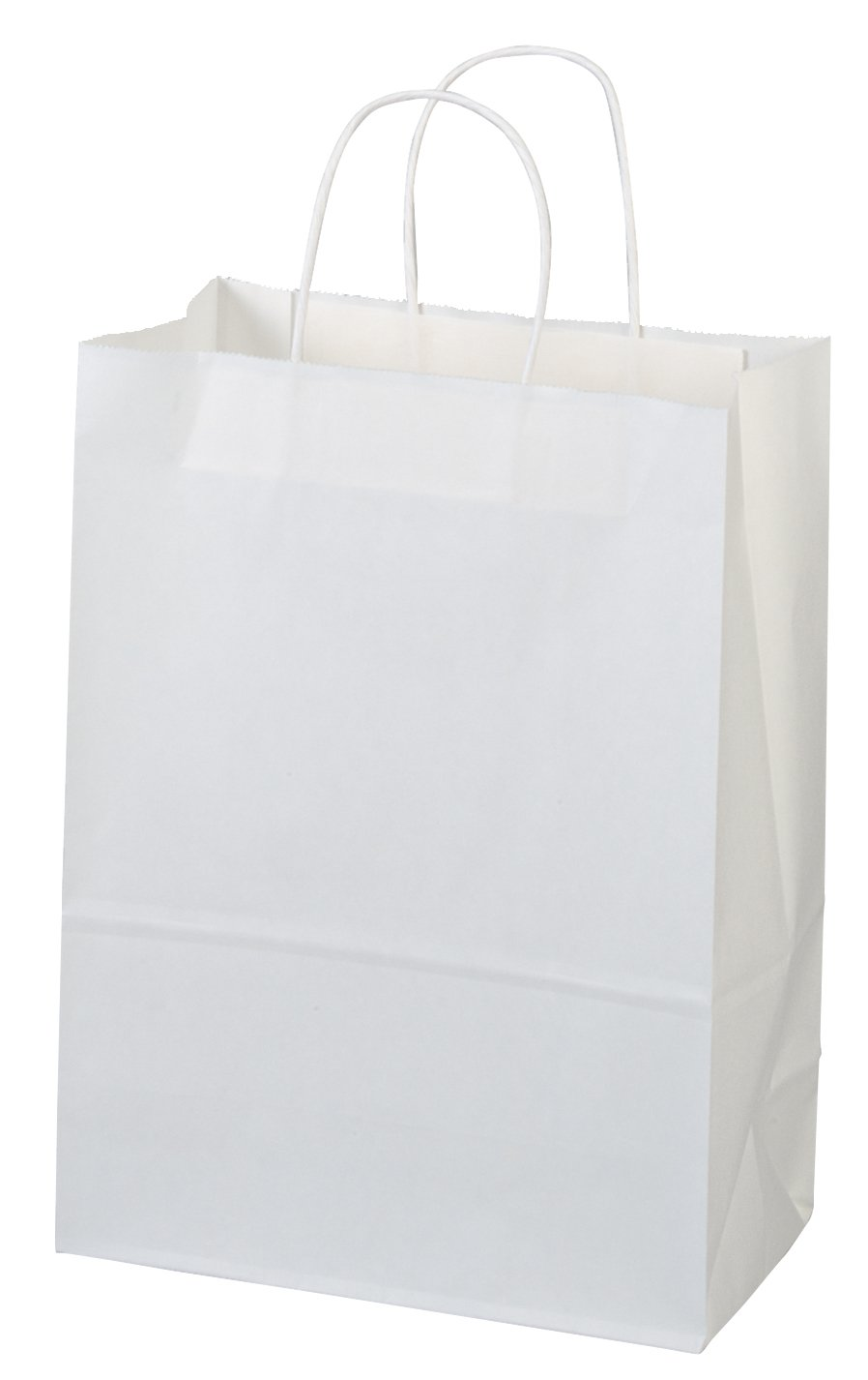 Flexicore Packaging 10''x5''x13'' - 50 Pcs - Bagsource White Kraft Paper Bags, Shopping, Mechandise, Party, Gift Bags