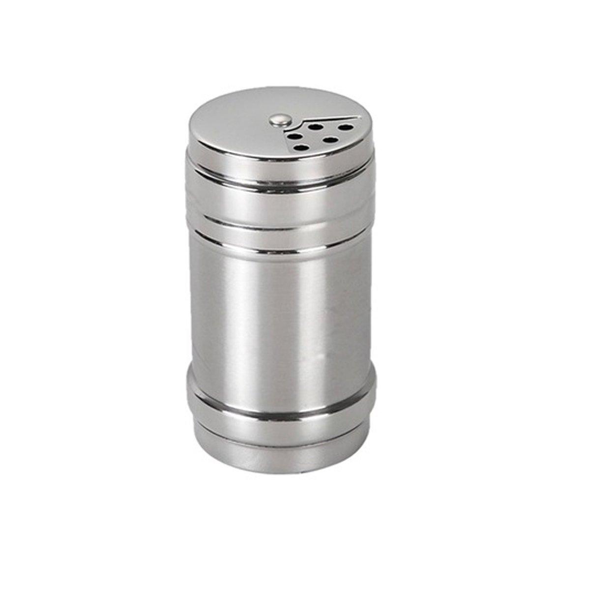 Acero inoxidable Dragado Sal Az/úcar Especias pimentero condimento latas con giratoria