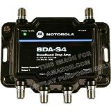 Motorola Signal Booster 4-Port BDA-S4 Cable Modem TV HDTV Amplifier