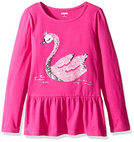Gymboree Little Girls' Peplum Tunic, Swan Pink, 5