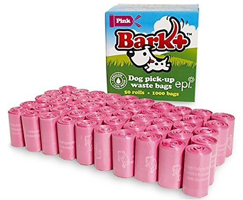 - Bark+ Dog Pick-Up Waste Bags 50 Rolls/1000 Bags Total 9 x 12 in. Each EPI Biodegradable Non-scented (Pink)