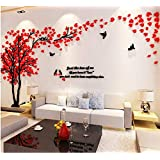 Acrylic 3D couple tree wall stickers living room bedroom TV background decoration mm