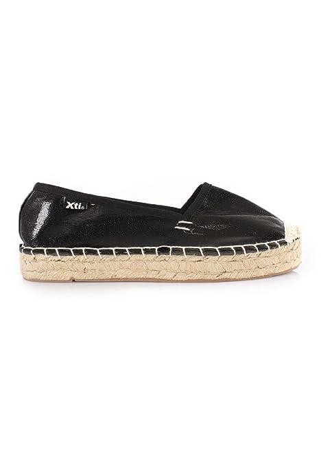 XTI - Alpargatas para Mujer Negro Negro, Color Negro, Talla 40: Amazon.es: Zapatos y complementos
