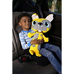 Jay at Play Seat Pets (Bull Dog) by As Seen on TV - Kids Seat Belt Car Travel Pillow and Plush Animal Toy – Compatible with Any Safety Belt to Provide Head & Neck Support