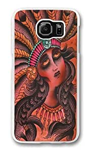 Feather Girl 2 Custom Samsung Galaxy S6/Samsung S6 Case Cover Polycarbonate Transparent