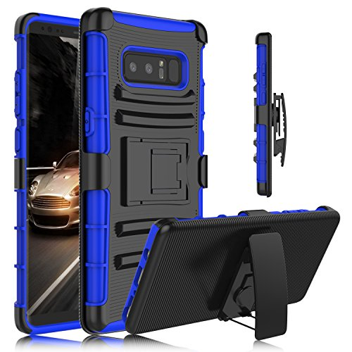 Galaxy Note 8 Case, Venoro Heavy Duty Armor Holster Defender Full Body Protective Case Cover with Kickstand and Belt Swivel Clip for Samsung Galaxy Note 8 6.3