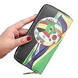YJYDADA Wallet Holder,Women Fashion Football Single Zipper Multi Card Position Wallet Card Phone Bag (E)