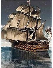 1000 bitar pussel Segling segelbåt målning Varje bit är unik, bitar passar perfekt ihop
