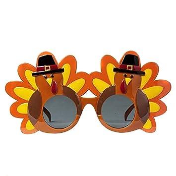 htfrgeds Creative Turkey Glasses Gafas de acción de Gracias ...