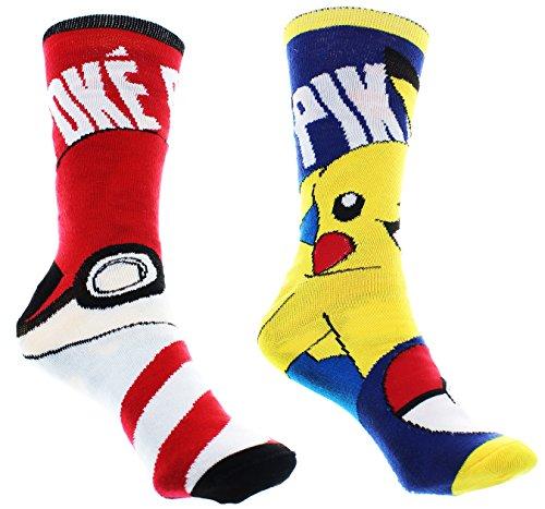 Pokemon-Reversible-Womens-Junior-Crew-Socks