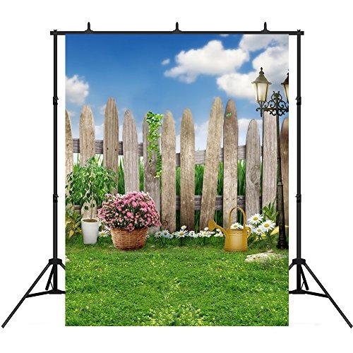 5x7ft Spring Photography Backdrops Vinyl Blue Sky Lawn Garden Photographic Studio Photo Backgrounds Props