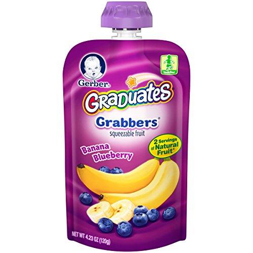 Gerber Graduates Grabbers Banana Blueberry