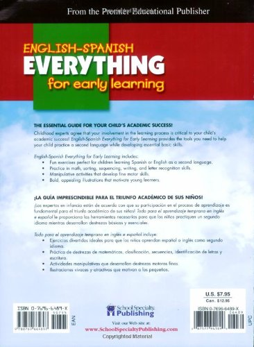 English-Spanish Everything for Early Learning, Preschool (English and Spanish Edition) by American Education Publishing