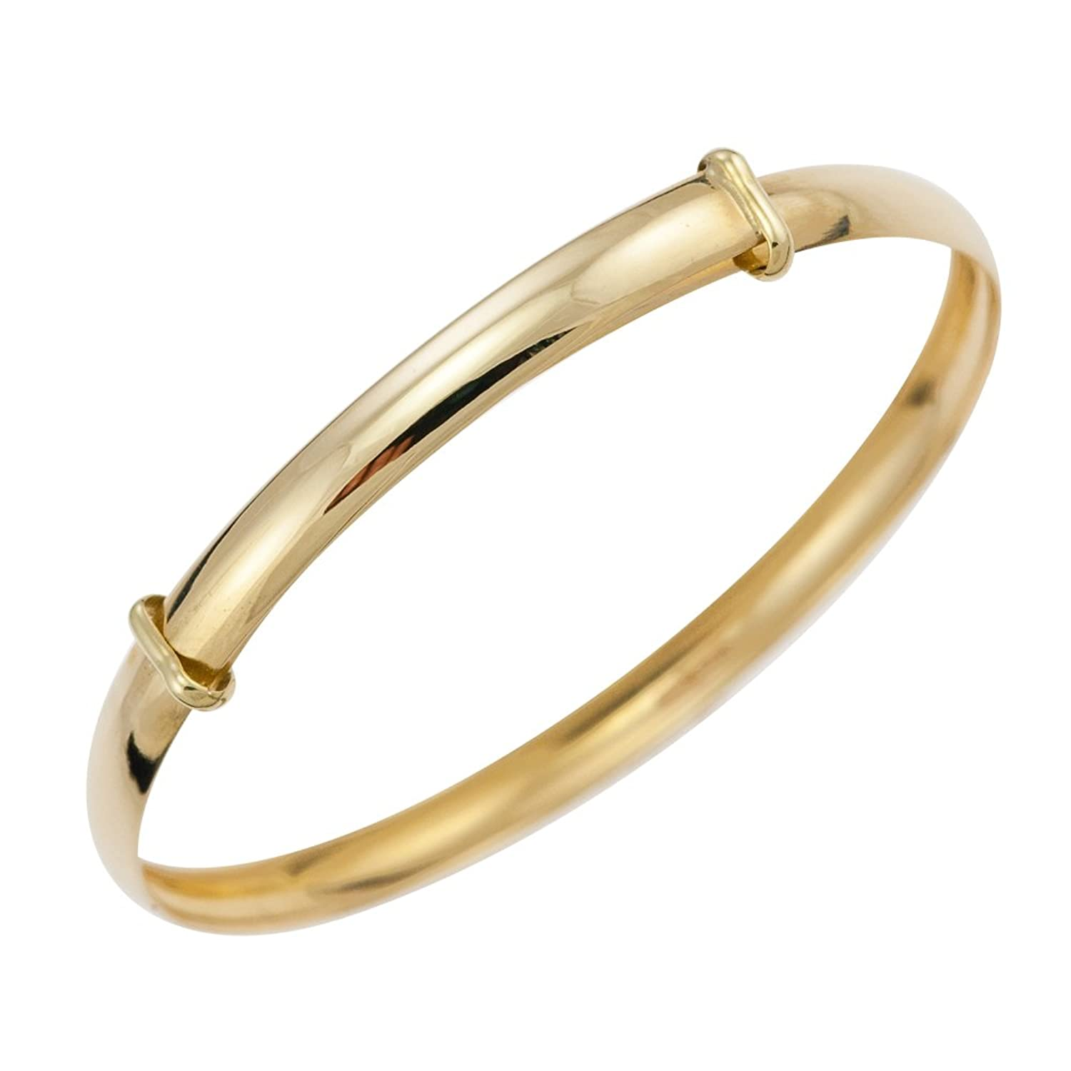 Ornami Glamour 9ct Yellow Gold Expander Baby Bangle 5cm Diameter ...