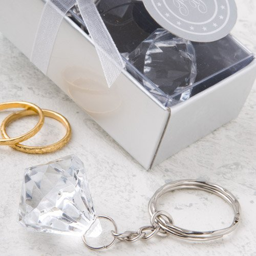 Clear Diamond Design Key Chains