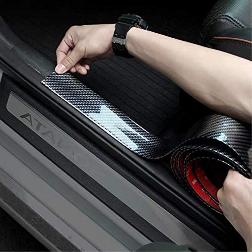 - Door Entry Guards,width 1.96Inch HengJia Auto Parts carbon fiber Door Sill Entry Guards,Paint Protection Guard,before Rear Bumper Guard Scratch scratch protection strip,Arbitrary cutting (98.4Inch)