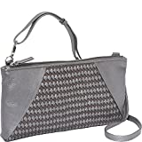 Derek Alexander EW Top Zip Clutch (Silver/Metallic)