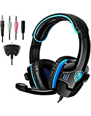 [Gaming Headset für PS4] docooler SADES SA-708 GT [SADES SA-708 Upgrade-Version]Andoer Game-Kopfhörer Spiel-Kopfhörer Musik Kopfhörer für PS4 XBOX 360 Tablet PC Mobile Phones