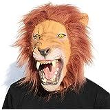 CreepyParty Novelty Halloween Costume Party Animal Head Mask - King Lion