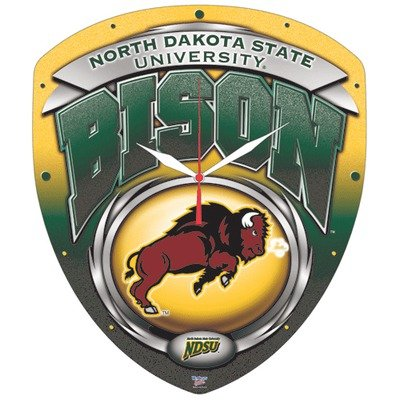 WinCraft NCAA North Dakota State High Definition Plaque Clock