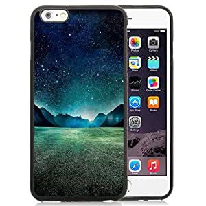 NEW Unique Custom Designed iPhone 6 Plus 5.5 Inch Phone Case With Starry Night Grass Field Mountains_Black Phone Case