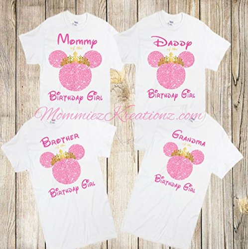 Minnie Mouse Pink & Gold Family Shirt, Minnie Mommy Shirt