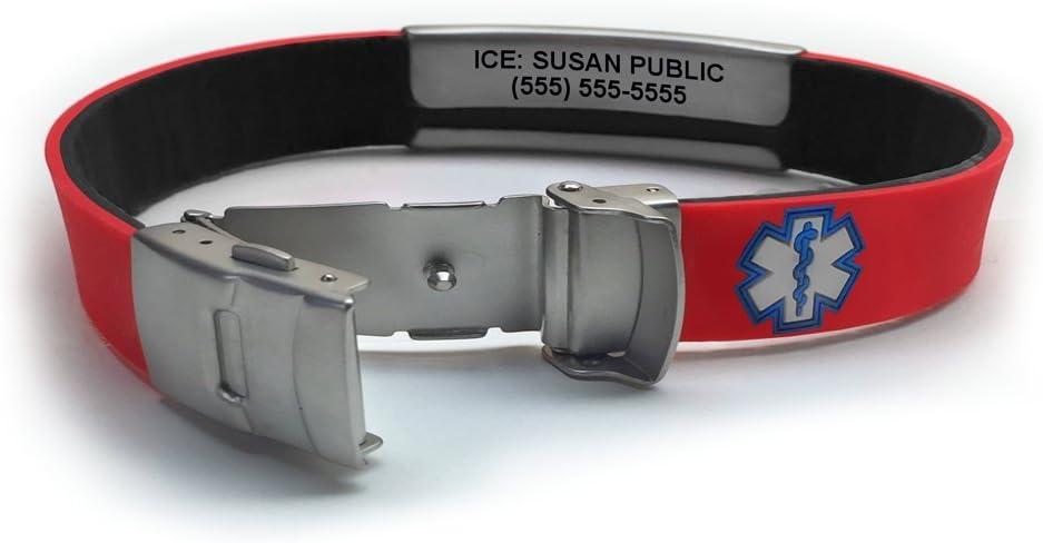 Sport Slim Reversible Waterproof Medical Alert Bracelet