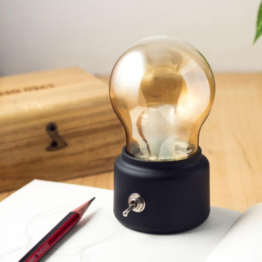 USB Rechargeable LED Creative Retro Night Light Huluwa Light Bulb Bedside Lamp