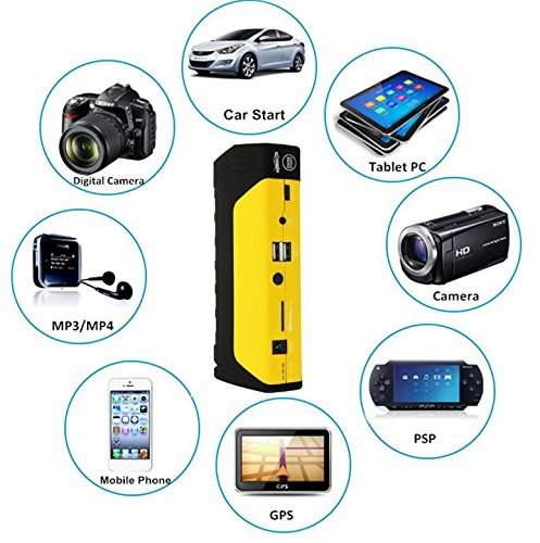 Universe® 2015 Pro 50800mAh Car Jump Starter Huge Capacity Power Bank Battery USB Universal Travel Charger Mobile Device Laptop Smartphones iPhone Android Start Vehicle Improved 13600mAh 15000mAh 20000mAh 30000mAh Auto Emergency Flashlight Kit