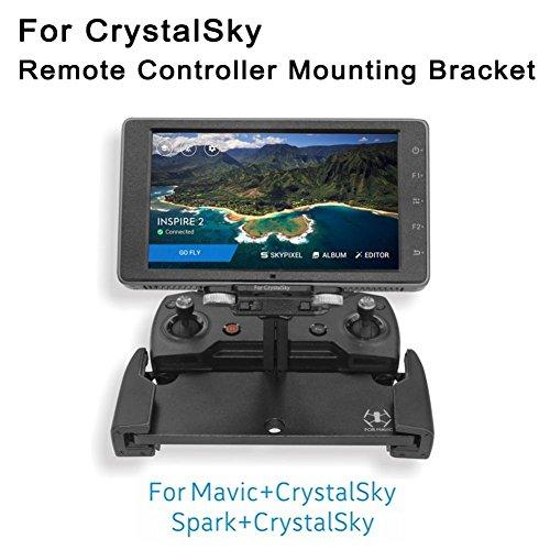 Aluminum Antenna Holder (Dreamyth New Crystalsky Monitor Holder Aluminum Bracket Remote Control Mount For DJI Mavic Pro/DJI Spark (black))