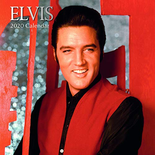 2020 Wall Calendar - Elvis Presley Calendar, 12 x 12 Inch Monthly View, 16-Month, Famous 50s 60s Singer Icon, Includes 180 Reminder Stickers