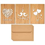 Pack of 3 Love Theme Wood Greeting Cards Review and Comparison