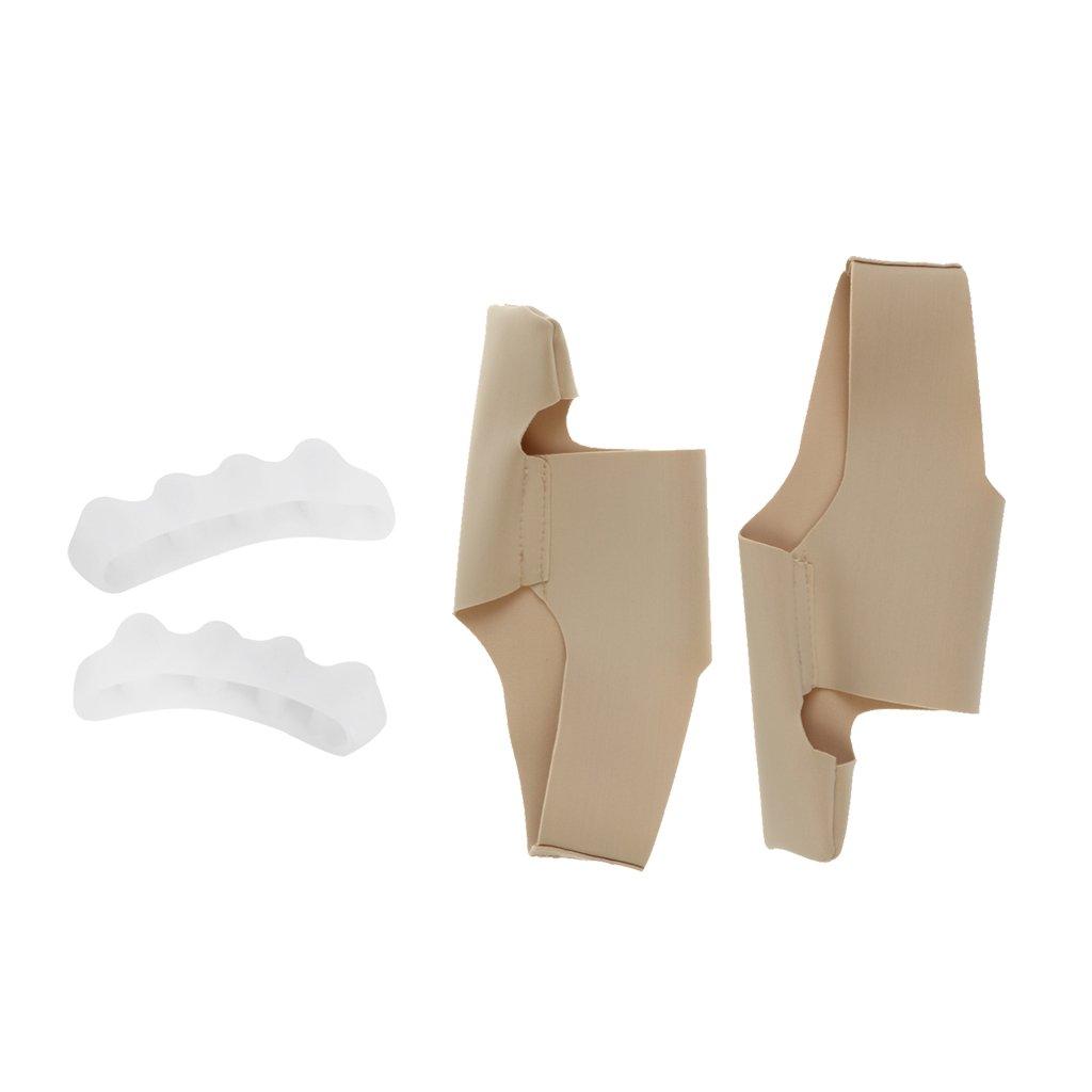 MagiDeal Gel Toe Separators Orthotic Stretchers + Elastic Bunion Sleeve Toe Corrector