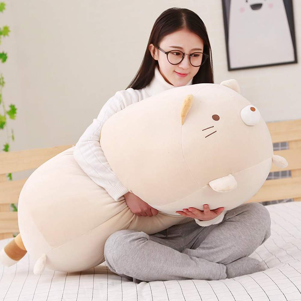 ERDAO Big Cat Plush Pillow,Large Fat Cats Stuffed Animals Toy Doll for Girls,Bed,35.4 inches by ERDAO