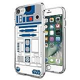 Star Wars R2D2 Robot iPhone 7 Case, Onelee [Never fade] Star Wars R2D2 Robot, Clear TPU Soft Rubber Case for regular iPhone 7 4.7