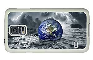 Diy Samsung S5 uncommon cases Earth in water at darkness PC White for Samsung S5,Samsung Galaxy S5,Samsung i9600