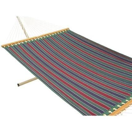 Oak N Oak 55 Wide Quilted Fabric hammock - Tricolor stripe