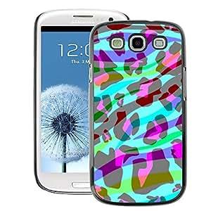 A-type Arte & diseño plástico duro Fundas Cover Cubre Hard Case Cover para Samsung Galaxy S3 (Zebra Abstract Stripes Animal Leopard)
