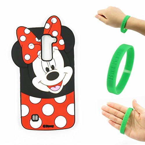 (LG Phoenix 2 Case,LG Phoenix 2 Minnie Silicone Case,Bat King Pink 3D Cute Cartoon Animal Mouse Minnie Soft Silicone Back Case Cover for LG Phoenix 2(Smile Minnie))