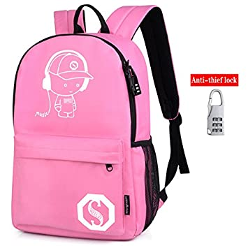 Amazon.com: Senkey style Mens Backpack Anime Starry sky Luminous Printing Teenagers Casual Mochila Men Womens Student Cartoon School Bags (M8): Computers ...