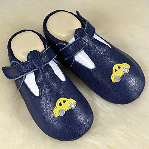 Liyas - Zapatillas de estar por casa de Piel para niño Azul azul Azul -  azul ...
