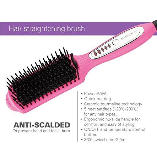 Cepillo Alisador de cabello, Anion Cerámica Calefacción ...