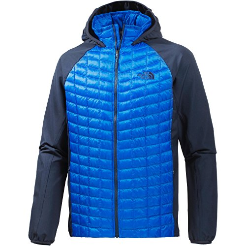 The North Face Mens Mens Thermoball Hybrid Insulated Softshell Hoodie Bomber Blue/Cosmic Blue XXL - Chest 49-53