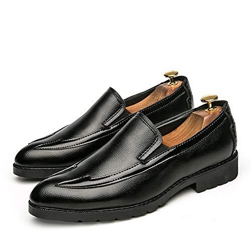 uomo Nero da Resistente Casual Oxford comode Color pelle scarpe formali all'abrasione Business EU cuciture Nero 38 Dimensione suola Sunny amp;Baby in wtRIFq