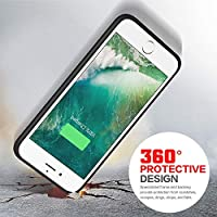 Funda Bateria para iPhone 5 5S SE, Recargable 4000mAh Carcasa Bateria Externa Protector Cargador Power Bank Case para Apple iPhone iPhone SE/5/5S